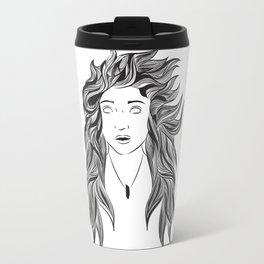 Wind and Hair Travel Mug