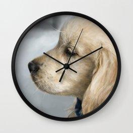 Buddy in profile Wall Clock