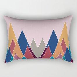 Colourful geomatric mountains Rectangular Pillow