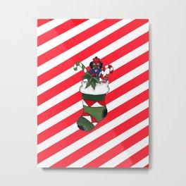 Stocking Stuffers Stripes - Merry Christmas Metal Print