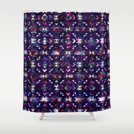 Purple Galaxy Quilt Shower Curtain