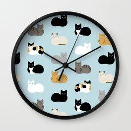 Cat Loaf Print Wall Clock
