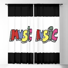 Music Blackout Curtain
