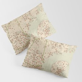 Vintage New England Industries Map (1919) Pillow Sham