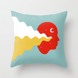 Weird Feelings (Primary Colors) Throw Pillow