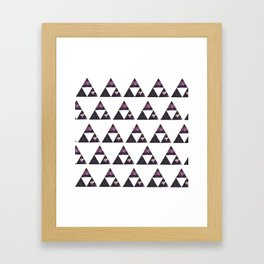 Floral Triforce Framed Art Print