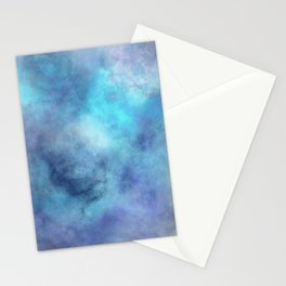 cosmic blue abstract Stationery Cards