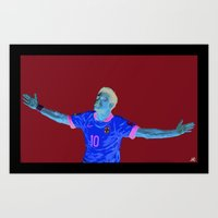 neymar Art Prints featuring Neymar by Aaron Cushley