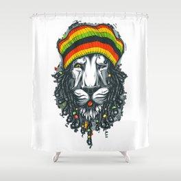 LION--MARLEY Shower Curtain