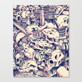 Skull Settlements Canvas Print