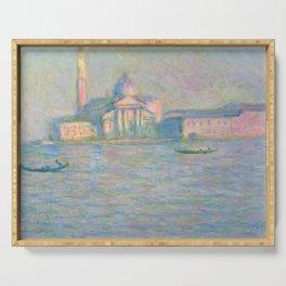 """Claude Monet """"The Church of San Giorgio Maggiore, Venice"""" Serving Tray"""