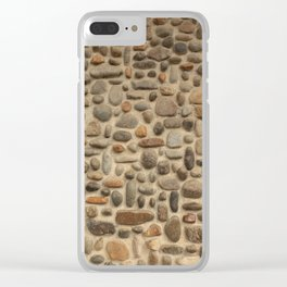 Mosaic Pebble Wall Clear iPhone Case