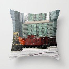 toronto trains Throw Pillow