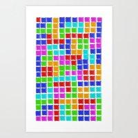 tetris Art Prints featuring Tetris by MarioGuti