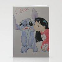 ohana Stationery Cards featuring Ohana by Sierra Christy Art