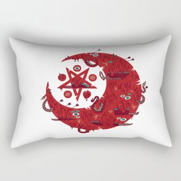 The Blood Moon Compels You to Fuck Shit Up Rectangular Pillow