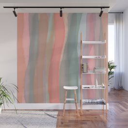 Peachy Watercolor Wall Mural