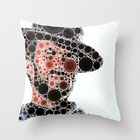 cowboy Throw Pillows featuring Cowboy by Cesar Peralta