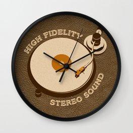 Retro DJ's Turntable Wall Clock