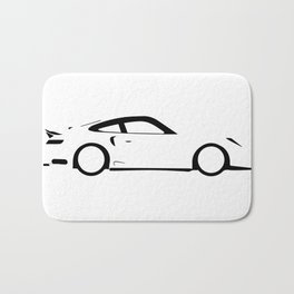 Fast Car Outline Bath Mat