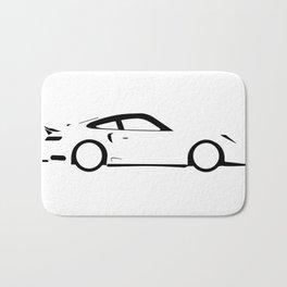 Fast Car Outline Bath Mat