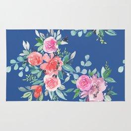 Blue Floral Bouquet Rug