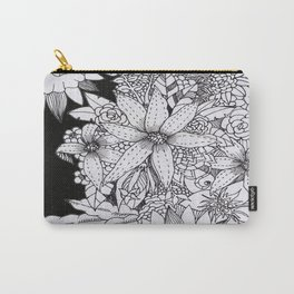 Flowers over Stars Carry-All Pouch