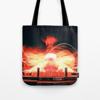 ufo Tote Bags featuring UFO by Teodora Roşca
