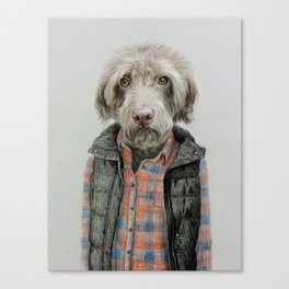 dog in shirt Canvas Print