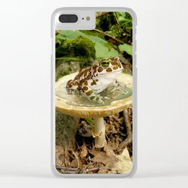 Toad Stool. Clear iPhone Case