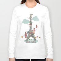 eiffel tower Long Sleeve T-shirts featuring Eiffel Tower by ShangheeShin