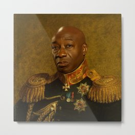 Michael Clarke Duncan - replaceface Metal Print