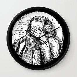 Facepalm Marx Wall Clock