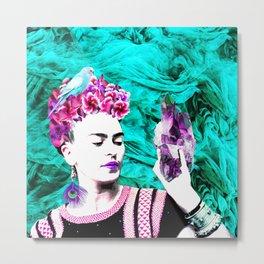 Frida Kahlo ang Crystalls Metal Print