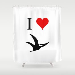 I Love Dinosaurs - Pterodactyl Shower Curtain