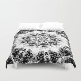 Atomic Black Center Swirl Mandala Duvet Cover