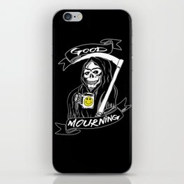 Good Mourning V2 Skulls and Coffee iPhone Skin
