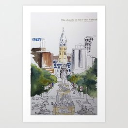 View of JFK BLVD, Philadelphia Art Print