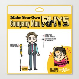 Make your Own Company Man Canvas Print