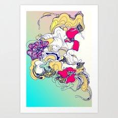 sad poppy Art Print
