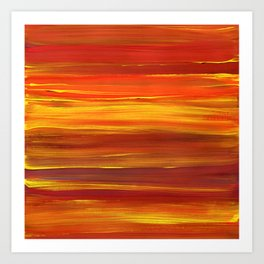 Sunset stratum Art Print