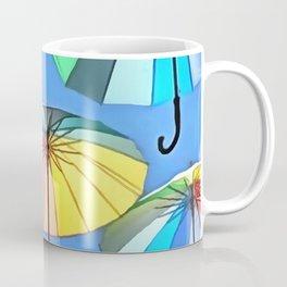 Whimsical Floating Umbrellas Coffee Mug