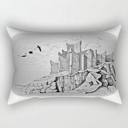 dragon castle Rectangular Pillow
