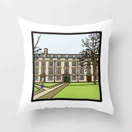 Cambridge struggles: Christ's College Throw Pillow