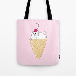 ICE CREAM CAT Tote Bag