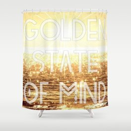 Golden State of Mind Shower Curtain