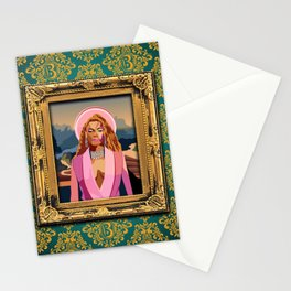 Queen B in the Louvre Stationery Cards