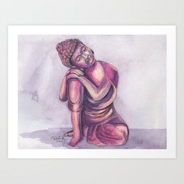 Dreamy Buddha Art Print