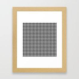 Monochrome Black & White Houndstooth Framed Art Print