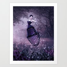 Black magic fairy Art Print